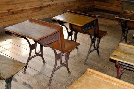 public-domain-antique-wood-school-desk