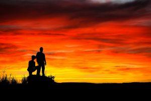 Public Domain sunset-sky-people-silhouette